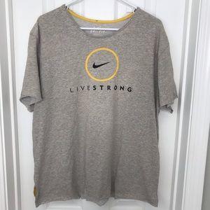 Nike Live Strong Gray T Shirt